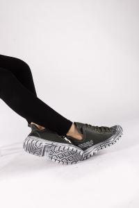 Moda Eleysa Trendy 86 Gri Cilt Kadın Bootie MODAELYSSA1504