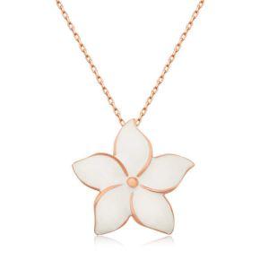 Gümüş Yasemin Çiçeği Bayan Kolye