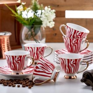 Özlife 12 Parça Kahve Fincan Takımı- 1514