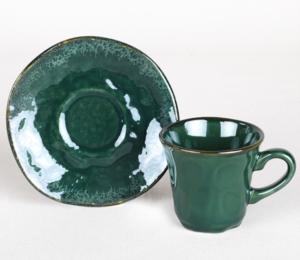 Keramika Zümrüt Kahve Takımı 12 Parça 6 Kişilik - 19024