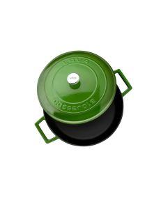 Lava Döküm Çok Amaçlı Yayvan Tencere Folk Çap (Ø) 28 cm - Yeşil