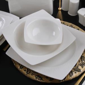 Güral Porselen 61 Parça Caroline Kare Bone Yemek Takımı 6117