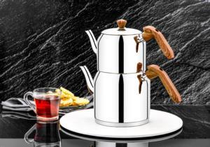 Özlife Azra Sade Ahşap Aile Boy Çaydanlık- 129