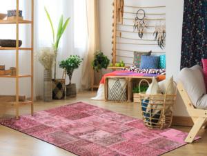 Kozzy Home 240X180 cm Pembe El Dokuma Halısı KZZYCM99912
