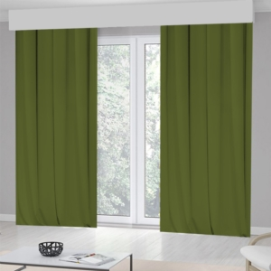 Kozzy Home Tek Kanat Yeşil Fon Perde -RFE0419