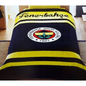 Taç Kristal Tek Kişilik Lisanslı Fenerbahçe Logo Battaniye