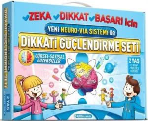 Dikkati Güçlendirme Seti - Yeni Neuro VİA Sistemi ile (2 Yaş)-Osman Abalı