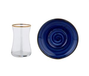 Özlife 12 Parça Damla Mavi Porselen Çay Seti- 927