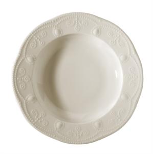 Kütahya Porselen 24 Parça Fulya Krem Yuvarlak Yemek Takımı