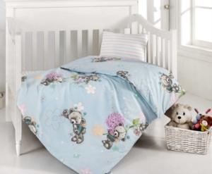 Altınbaşak Yumak Mavi Bebek Uyku Seti