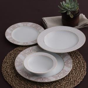 Güral Porselen 84 Parça Yuvarlak Tolstoy Yemek Takımı Bantlı 5728 AU