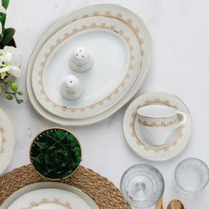 Güral Porselen 84 Parça Yuvarlak Tolstoy Yemek Takımı 9305495