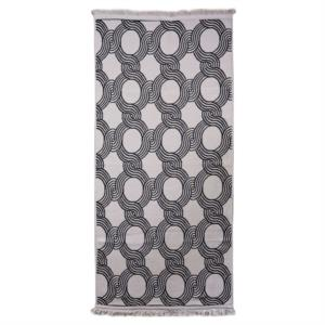 Karaca Home Esta Ekru-Siyah Çift Taraflı 80X150 cm Kilim