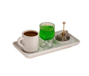 Yakut 3 Parça Beyaz Kahve Sunum Seti