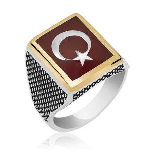 Gümüş Teşkilat Dizisi Türk Bayrağı Yüzük