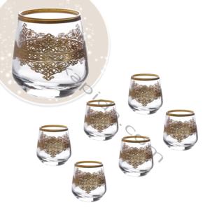 Çınar Kristal 6 Adet Ottoman Sade Fıçı Kahve Yani Bardak