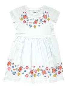 Cvl Kız Çocuk Elbise 2-5 Yaş Beyaz