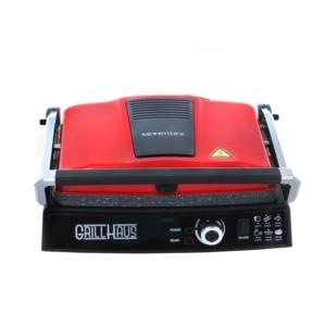 Sevenlex Grill Haus Tost ve Izgara Makinesi İnox Kırmızı