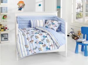 Belenay Tek Kişilik Bebe Uyku Seti - Sevimliler Mavi