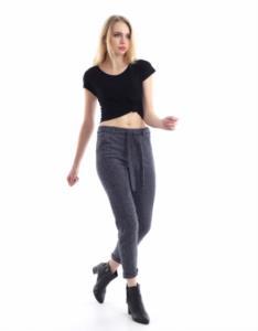 Darkline Kadın Gri Beli Kemerli Jilet Pantolon