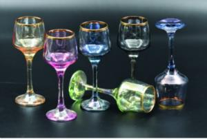 Lav Lüster Küçük Ayaklı 6 Renk Kahve Yanı Bardağı -lal506