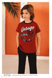 Güryıldız 6756 Kısa Kollu Erkek Çocuk Pijama Takımı