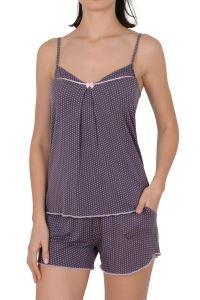 Nicoletta Kadın Şortlu Pijama Takımı İp Askılı Cepli Viskon