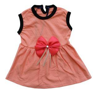 Somon Kurdelalı Somon Kız Bebek Elbise