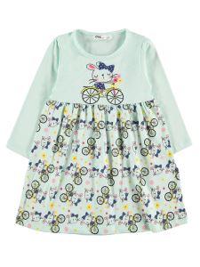 Civil Girls Kız Çocuk Elbise 2-5 Yaş Mint Yeşili