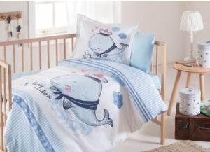 Özdilek Tiny Sailor Bebek Nevresim Takımı Mavi