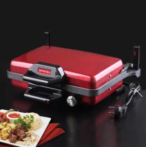 Sevenlex Inox Metal Turbo Grill Granit Bazlama Tost ve Lahmacun Makinesi Kırmızı Sev002