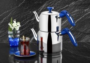 Evimsaray İdil Aile Boy Mavi Çaydanlık- S-7116