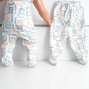 Patikli Mavi Turuncu İnekli Tek Alt Bebek