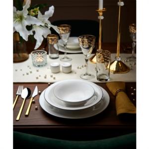 Karaca Fine Pearl Fame Platin 62 Parça 12 Kişilik İnci Yemek Takımı RND