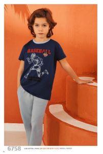 Güryıldız 6758 Kısa Kollu Erkek Çocuk Pijama Takımı