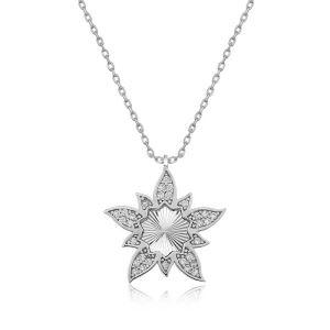 Gümüş Lotus Çiçeği Bayan Kolye