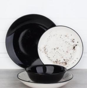 Acar Antik 24 Parça Siyah Porselen Yemek Takımı 016722/1-SİYAH