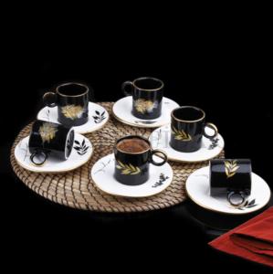 Fırat 12 Parça Zeytin Dalı Kahve Fincan Takımı