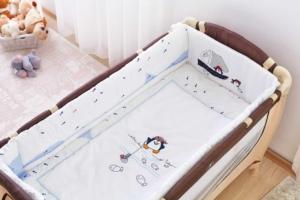 Aybi Baby 6 parça Penguin Bebek Mini Uyku Seti 60x120 cm- 646
