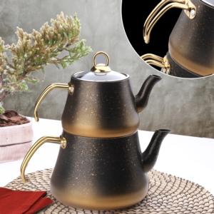 Oms Aile Boy Granit Çaydanlık 8200 Gold