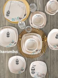 Keramika Retro Yemek Takımı 24 Parça 6 Kişilik