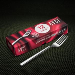 Avcı Klas 12 Parça Yemek Çatalı KLS-12