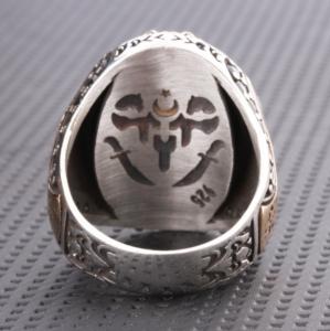 Işık Silver Gümüş Taşlı Erkek Yüzük SVR63