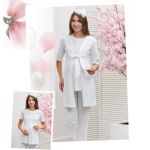 Flz Dowry 31-213 Bayan Pijama Takımı Ekru