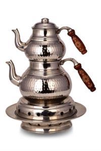 Saint Belisama Klasik Isıtıcılı Kalın Bakır Çaydanlık Orta Boy SB19562
