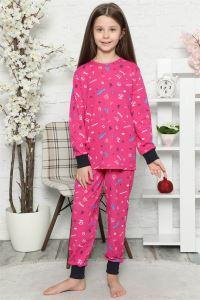 Akbeniz Çocuk Pamuk Uzun Kollu Pijama Takımı 4545