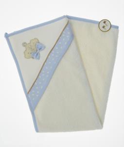 Little Gift İncili Taç Silgi Havlu Mavi 80x90 cm