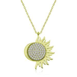 Gümüş Gold Mihrimah Sultan Bayan Kolye