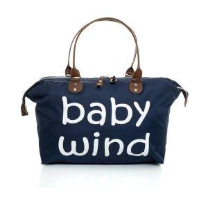 Baby Wind Baskılı Geniş Hacimli Lacivert Anne Bebek  Bakım Omuz Çantası