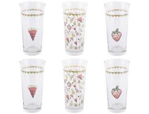 Tantitoni 6 Parça Fruits Meşrubat Bardağı Takımı- HARE T20225FR